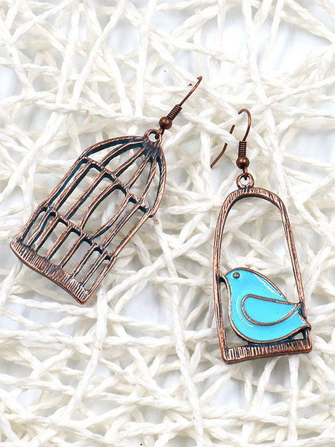 Womens Alloy Asymmetry Earrings