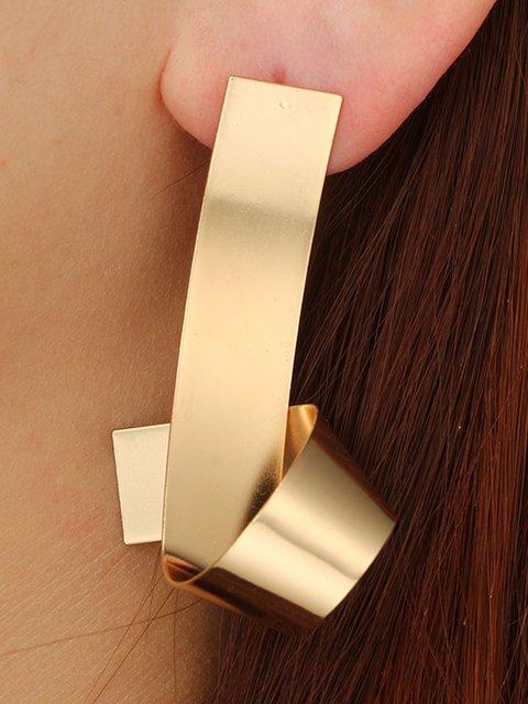 Womens Geometric Metal Bright Wave Earrings