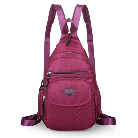 Outdoor Travel Waterproof Multi-pockets Zipper Nylon Backpacks