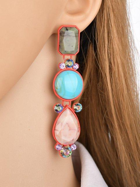 Womens Coloful Resin Earrings