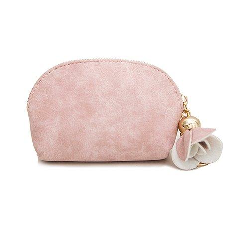 Women Casual Cute PU Mini Key Purse Wallets