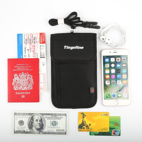Travel Boarding Multi-pocket Passport Cards Waterproof  Storage Crossbody Bags