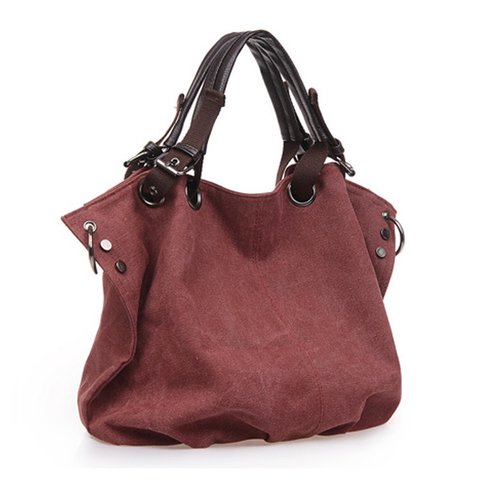 Women Outdoor Casual Canvas High Capacity Shoulder Bags