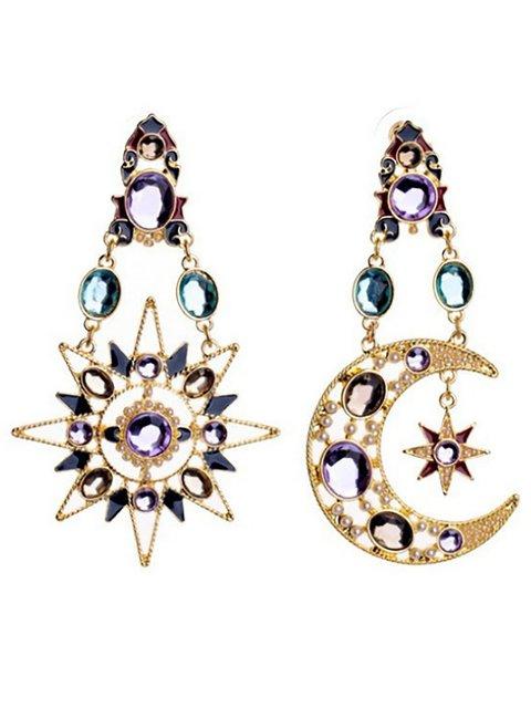 Newest Fashion Moon Star Sun Jewel Pendant Earrings