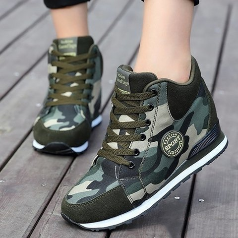 Women Army Green Sneakers Casual Comfort Plus Size Shoes