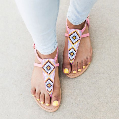 Women PU Sandals Casual Comfort Flip Flops Plus Size Shoes
