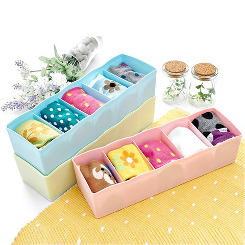 Casual Color Polyester Socks Cosmetic Stationer Staff Storage Organizer