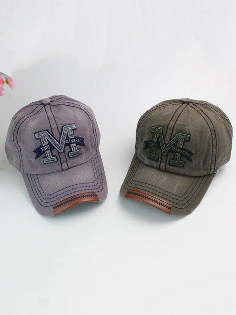 Fashion Embroidery Letter M Denim Hip-hop Hats