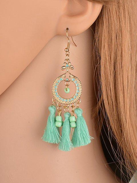 Womens Newest Bohemian Style Tassel Earrings