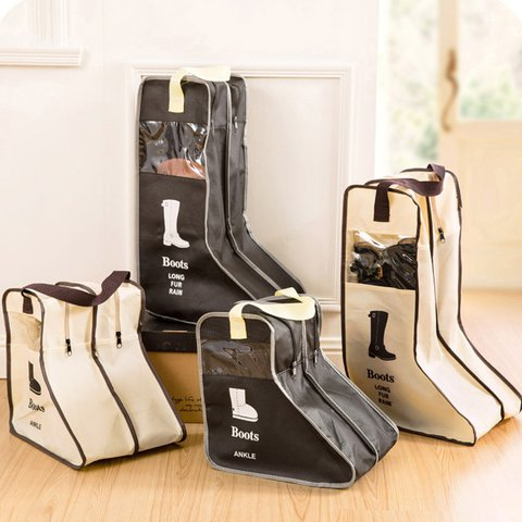 Boots Shoes Dust-proof Travel Transparent Zipper Storage Bags