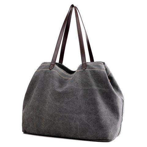 Women's Outdoor Multi-layer Zipper Canvas Shoulder Bags