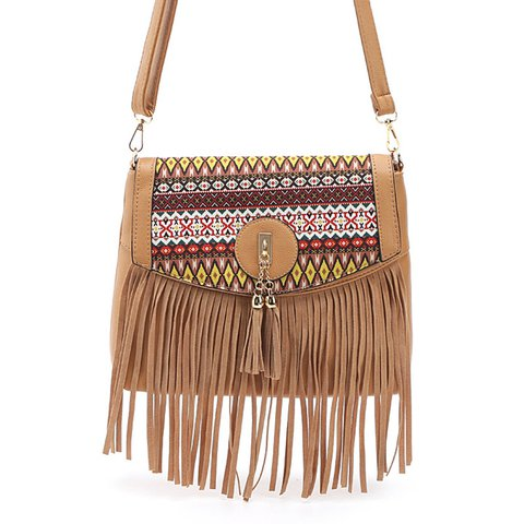 Women's Casual Tassel Mini Phone Vintage PU Crossbody Bags