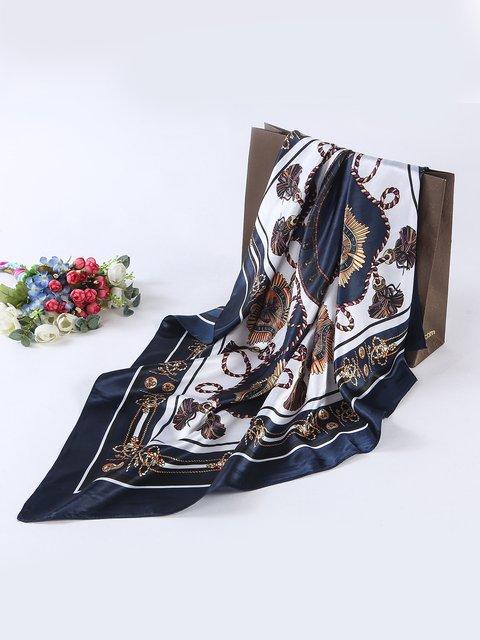 Women Vintage Silk Satin Square Head Scarves