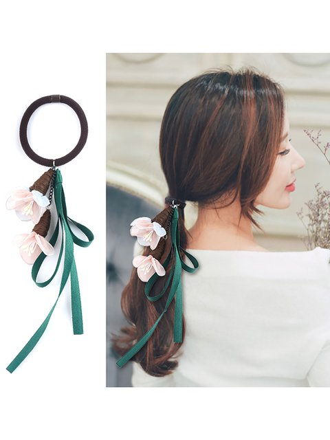 Womens Flowers Cloth Hair Accessories