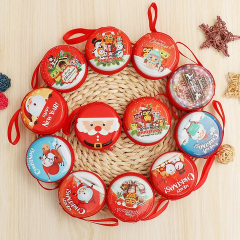 Christmas Gift Cute Coin Data Wire Zipper Storage Bags