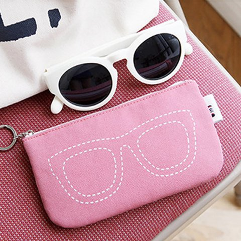 Cute Glasses Coin Cosmetic Zipper Storage Bags