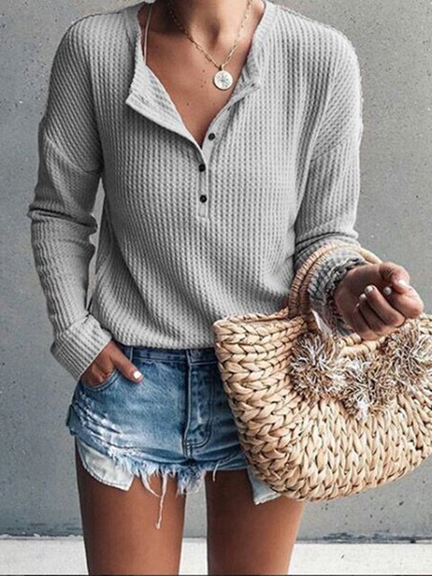 Button Up Long Sleeve Knitted Sweater