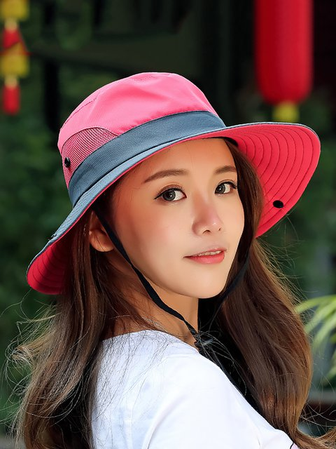 c641ea16161 Womens Summer Foldable Mesh Breathable Anti-UV Fishermans Hats Outdoor  Travel Sunscreen Bucket Hats