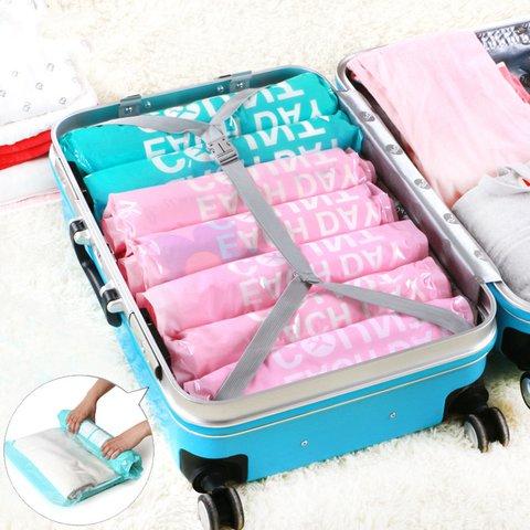 6PCS Waterproof Home Travel Rolled Vacuum Bags Storage Bags
