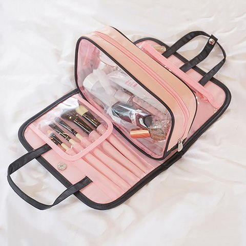 Women's Detachable Portable Polyester Travel Cosmetic Storage Bags
