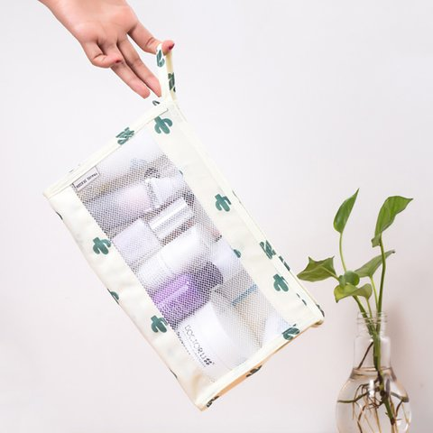 Women's Waterproof Polyester Cosmetic Wash Supplies Storage Bags