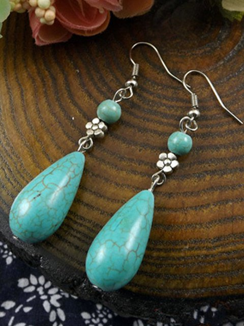 Womens Turquoise Drop Earrings