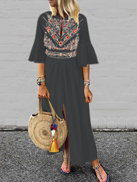 245b8982fba JustFashionNow Plus Size White Women Fall Dress Shift Daily Dress ...