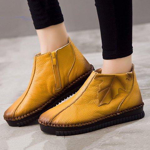 Women Plus Size Booties Casual Zipper High Quality Shoes