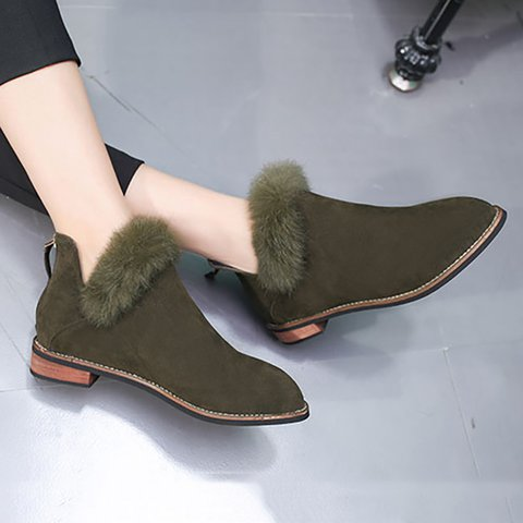 Women Artificial Nubuck Booties Casual Comfort Plus Size Shoes
