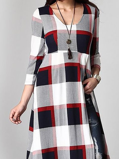 Daily Sleeve Abstract line Women Dress Long A Slit white Linen Casual Black wzqxIYW