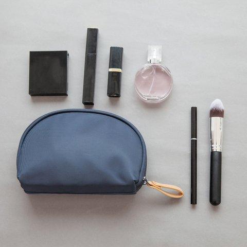Women's Cosmetic Casual Simple Shell-shape Zipper Nylon Storage Bags