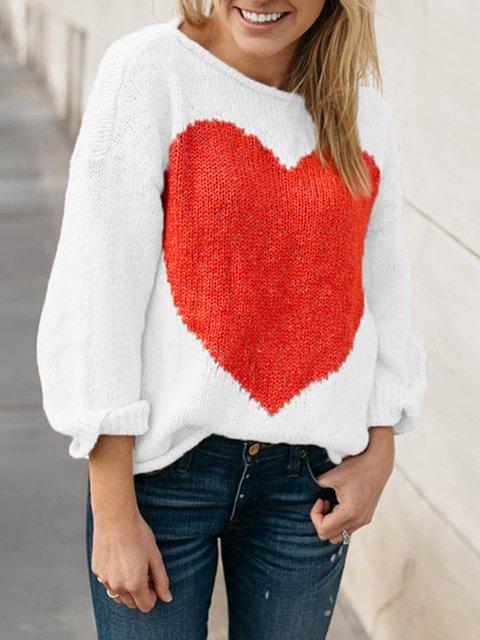 Round Neck Acrylic Intarsia Geometric Winter Sweater