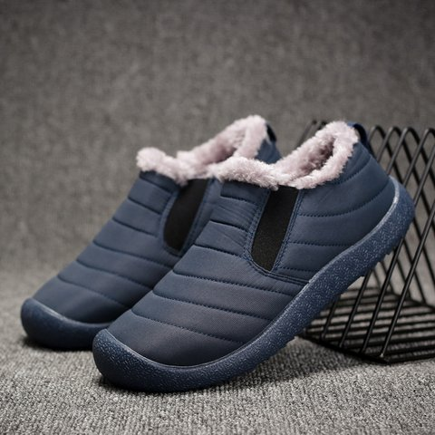 Women Slip On Snow Booties Casual Comfort Plus Size Shoes