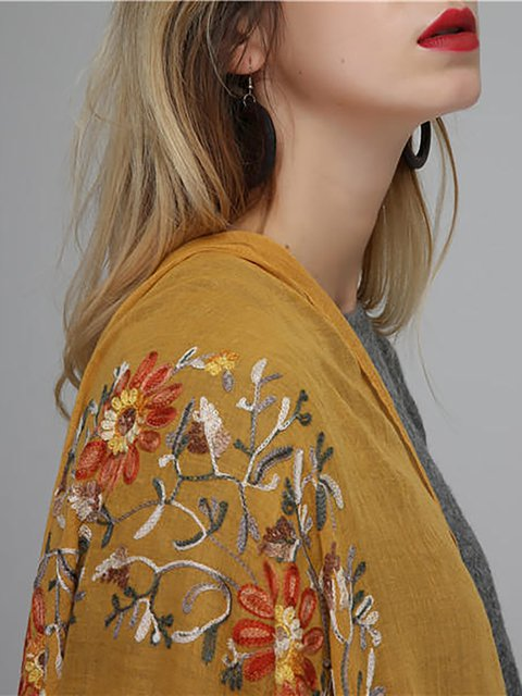 Womens Cotton Handcraft Embroidery Printed Scarves