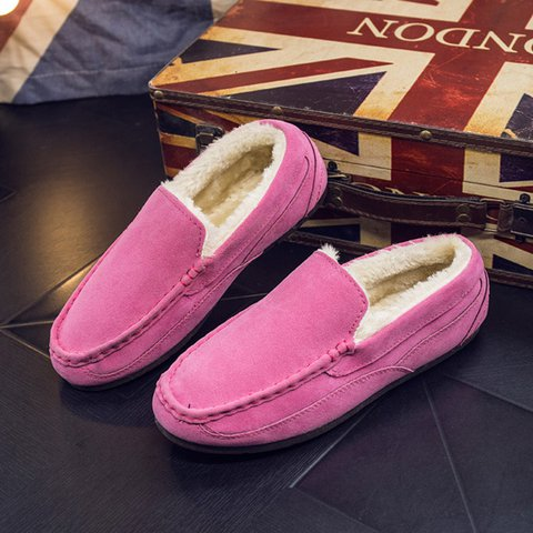 Women Warm Loafers Casual Comfort Flat Slip On Shoes