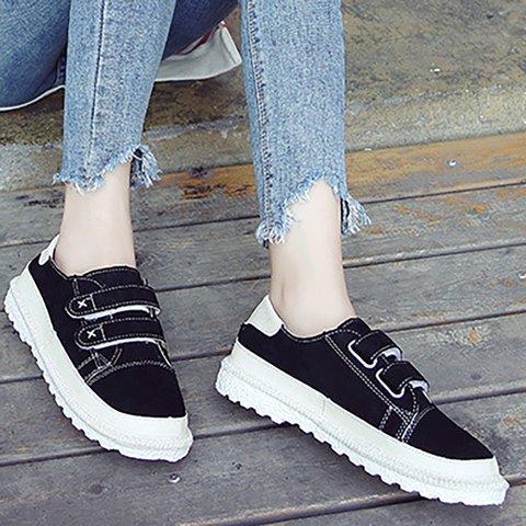0ea0dced4e Women Flocking Magic Tape Sneakers Casual Shoes - JustFashionNow.com