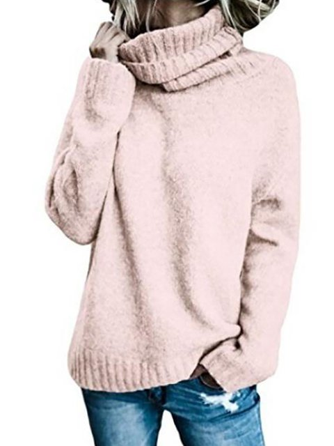 52135198413 Casual Turtle Neck Winter Knitted Solid Sweater - JustFashionNow.com