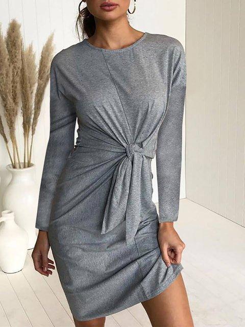 Daily Women Solid Long Casual Dress Sleeve Sheath Fall g5dwaxqUU