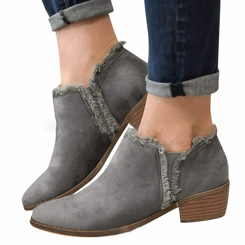 Womens Faux Suede All Season Ankle Boots