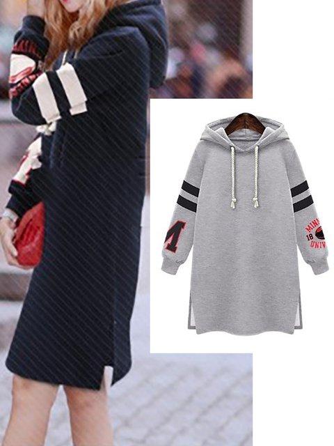 Long Sleeve Solid Elegant Plus Size Casual Hoody