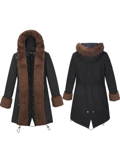 Long Hoodie Sleeve Casual Pockets Coat Solid vSzvqR