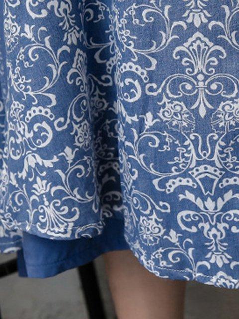 Women Floral Elegant Dress Casual Two Pockets Piece zxFZ0H4Wqp