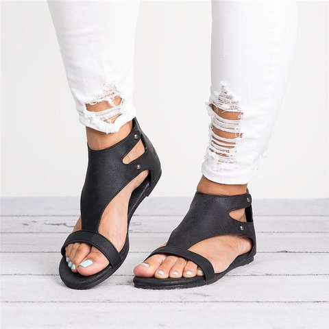 eb463a490ee475 Womens Sandals Flat Gladiator Thong Casual Summer Shoes - JustFashionNow.com