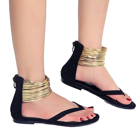 b0f51f3e8464 Plus Size Women Sandals Flip Flops Flat Sandals - JustFashionNow.com