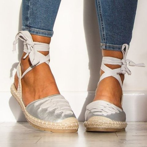 Women Bandage Shoes Ankle Strap Casual Espadrille Sandals