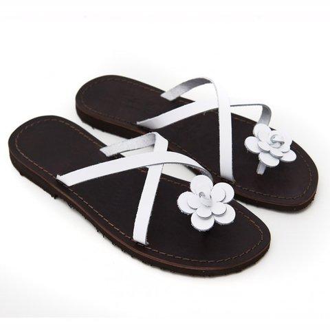 d6781c26c Women PU Slippers Casual Flower Flip FlopsShoes - JustFashionNow.com