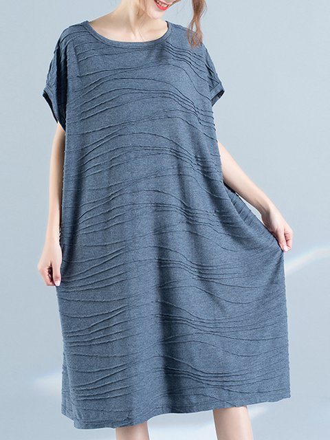 Shift Women Daily Casual Batwing  Solid Casual Dress