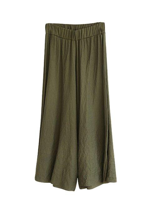 Casual Solid Linen Plus Size Cotton Pants