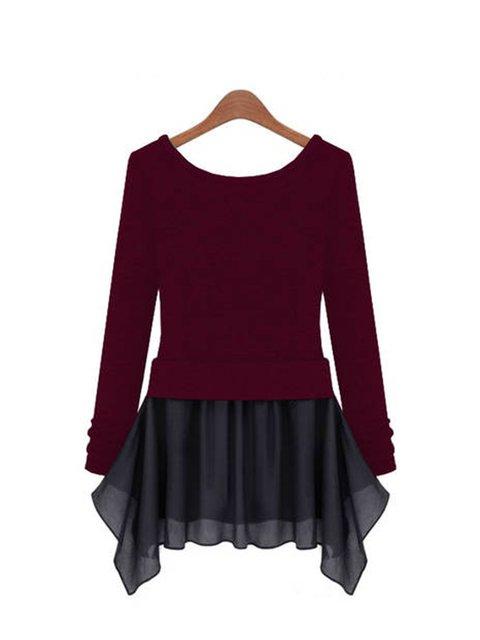 Paneled Casual Cotton Daily line Sleeve Women Solid Long blend A Dress qRz0P