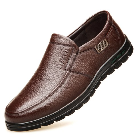 8078b1815b2 Men Genuine Leather Non-slip Soft Sole Casual Driving Shoes -  JustFashionNow.com